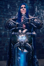 AotC photography - Jackie Craft as the Lich King