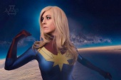AotC photography - Sinfonie as Captain Marvel, quick compos
